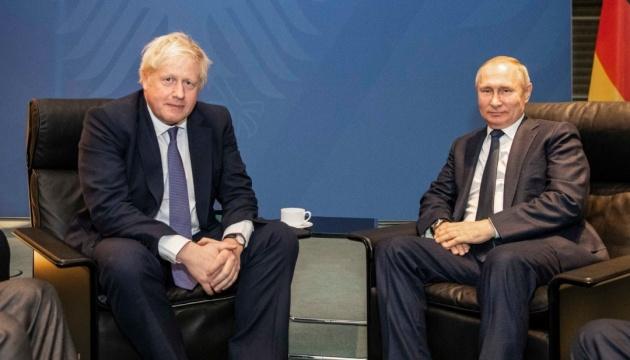 Джонсон - Путину: Нормализация отношений Британии с РФ пока невозможна