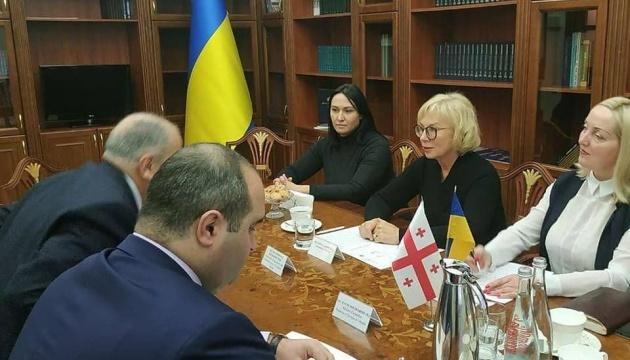 Денісова обговорила з новим послом Грузії права людини на окупованих територіях