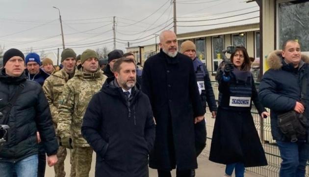 OSCE chair, Ukrainian ombudsman visit Stanytsia Luhanska