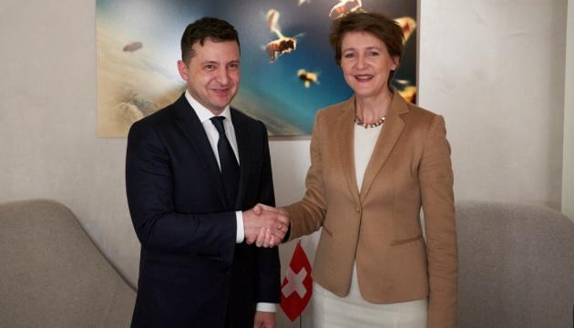 Зеленський розповів президенту Швейцарії про програму