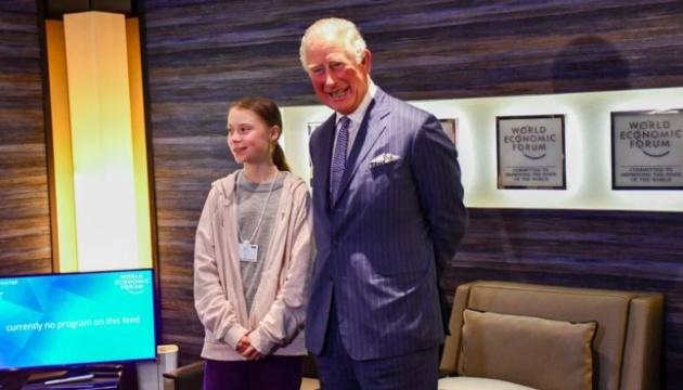 Грета Тунберг зустрілася у Давосі з британським принцом Чарльзом