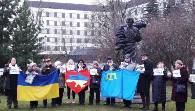 У Ризі відбулися флешмоби до Дня Cоборності та проти агресії Кремля