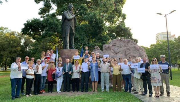 В Аргентині День Соборності урочисто відзначили біля монументу Шевченку в Буенос-Айресі