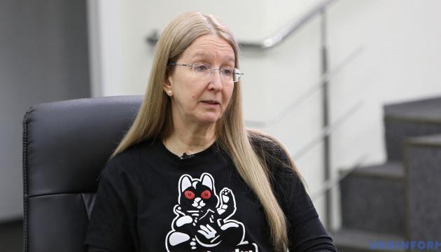 Супрун вважає, що в Україні загрозлива ситуація з вакцинами