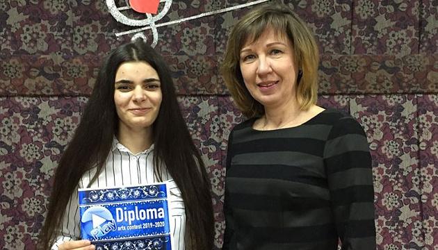 Школярка з Краматорська перемогла у Міжнародному Інтернет-конкурсі мистецтв в Італії