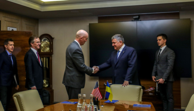 Ukraine's interior minister meets with U.S. deputy assistant secretary