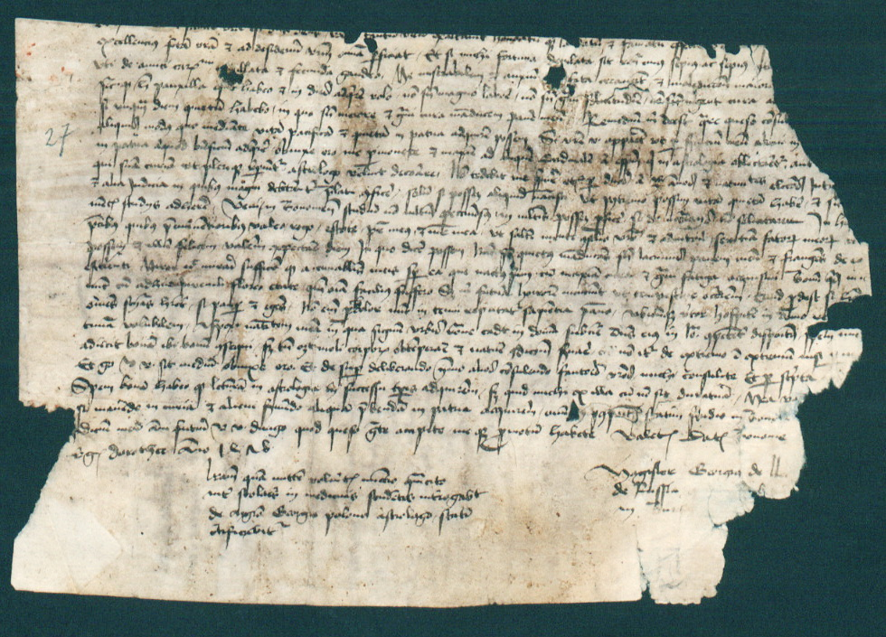 Лист Юрія Дрогобича до Миколи Чепіля, 1478 р, 1
