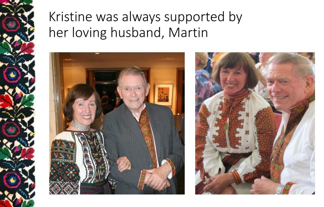 Христина Сивенька-Бейлі з чоловіком Мартіном