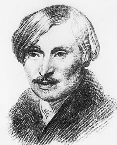 Рисунок Александра Иванова, Н.В.Гоголь, Рим, 1839 г.