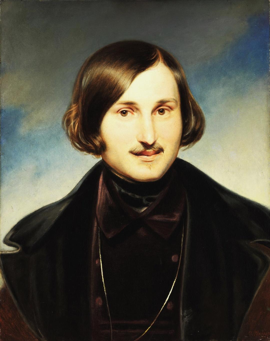 художник Федор Моллер, Портрет писателя Николая Васильевича Гоголя, начало 1840-х гг. 1