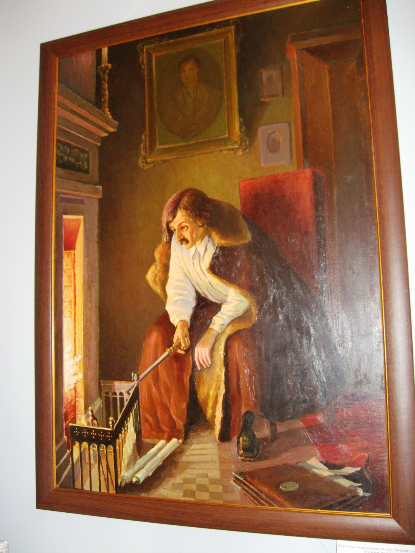 Гоголь сжигает рукопись второго тома