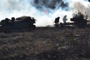 Окупанти гатили із мінометів 82 калібру по позиціях ЗСУ біля Луганського