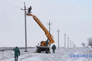 Na Ukrainie z powodu złej pogody 47 miejscowości zostały bez światła
