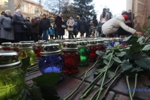 Activists light 176 candles near Iran's Embassy in Kyiv