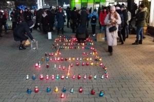 В Житомире провели флешмоб в поддержку онкобольных детей