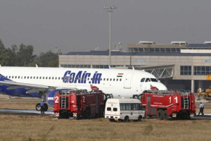 В Индии перед взлетом загорелся пассажирский самолет