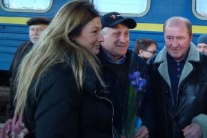 Polithäftling aus Krim Semena in Kyjiw eingetroffen