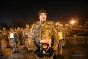 В Харькове память Небесной Сотни почтили флешмобом