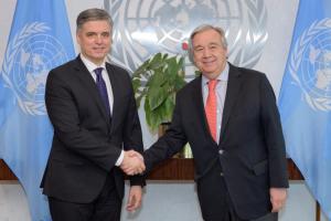 Пристайко і генсек ООН обговорили російську агресію проти України