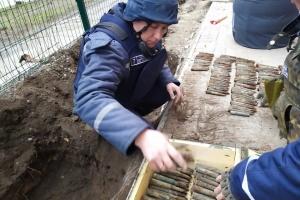Майже сотню гранат і запалів знайшли біля школи на Запоріжжі