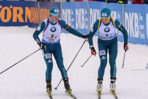 Ukrainerinnen holen Bronze bei Biathlon-WM in Italien
