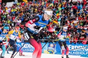 Норвежец Бё победил в масс-старте чемпионата мира по биатлону; Прима - в топ-20