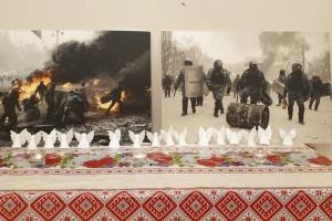 Українці в Лондоні вшанували пам'ять Героїв Небесної Сотні