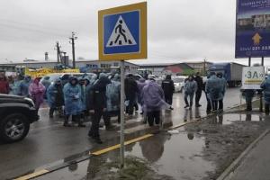 Жителі села під Києвом блокували Одеську трасу