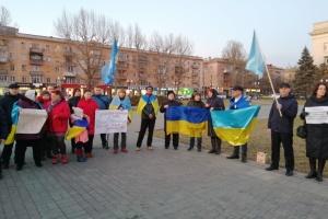 У Херсоні відбулась акція до Дня опору Криму російській окупації