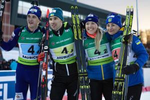 """Ukraina zdobyła """"złoto"""" na Mistrzostwach Europy w biatlonie"""