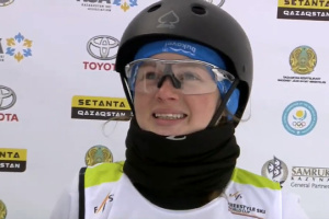 Mokhnatska se lleva el oro en la Copa del Mundo de esquí estilo libre