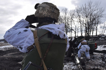 Invaders firing grenade launchers at Ukrainian positions in Donbas. One soldier wounded