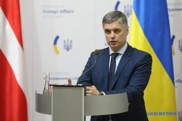 Le ministre ukrainien des Affaires étrangères se rendra à New York et à Washington en février