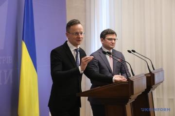 Kuleba und Szijjarto werden in Budapest Sitzung der Regierungskommission abhalten