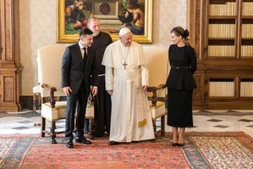 Zełenski i jego żona odwiedzili Kaplicę Sykstyńską i katedrę św. Piotra