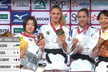 柔道GS、ダルヤ・ビロディド が優勝 古賀若菜は2位 女子48キロ級