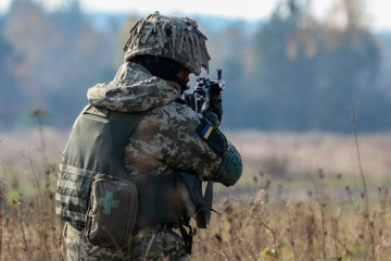 Invaders violated ceasefire near Hnutove in past day