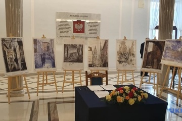 Exhibition of Sushchenko's drawings opens in Poland's Sejm