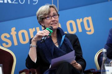 La Embajadora de Alemania ve oportunidades de cooperación con Ucrania en farmacéutica y energía verde