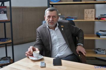 Akhtem Chiygoz, former political prisoner, deputy chairman of Mejlis of Crimean Tatar people