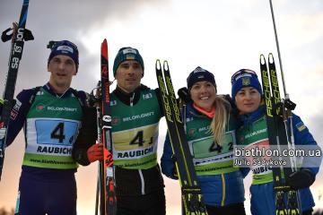 Equipo ucraniano logra el oro en el Campeonato de Europa de Biatlón