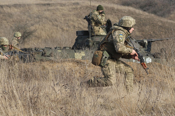 Invaders fire banned mortars in Donbas