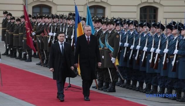 Зеленский встретился с Эрдоганом в Мариинском дворце