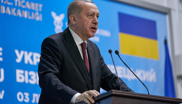 Ердоган — про ЗВТ з Україною: Дуже скоро зможемо повідомити хорошу новину