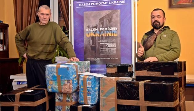 Українці зі Щецина надіслали чергову допомогу пораненим воїнам і сиротам в Україні