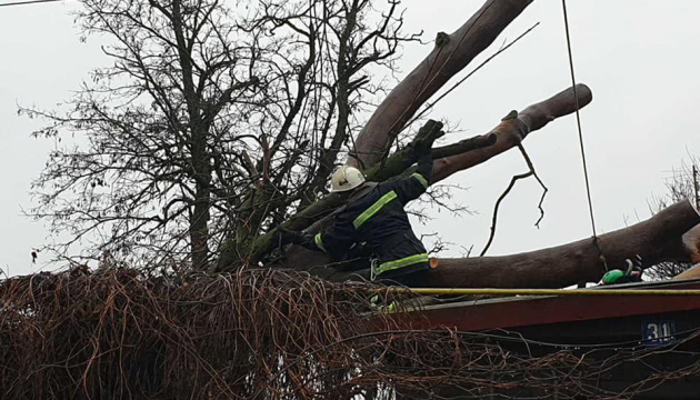 Some 600 towns and villages in Ukraine left without electricity due to bad weather