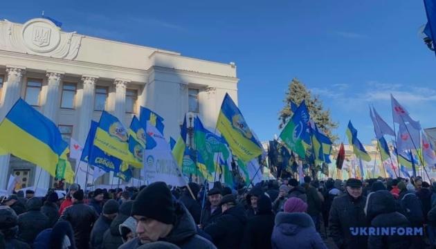 Kyiv: Les agraires manifestent contre l'ouverture du marché foncier