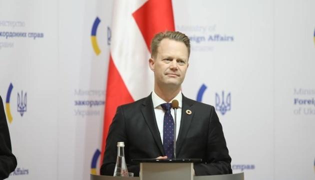 Dänischer Außenminister versichert Unterstützung der territorialen Integrität der Ukraine