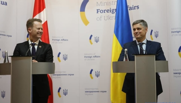 Danish foreign minister pledges support for Ukraine's territorial integrity