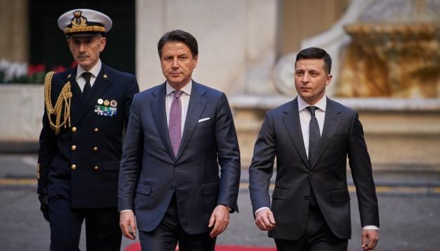ゼレンシキー大統領、伊訪問 コンテ首相と協力を協議
